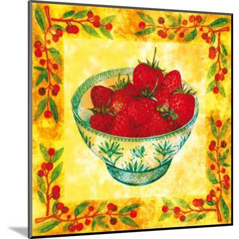 Seasons' Fruits Strawberries--Mounted Art Print