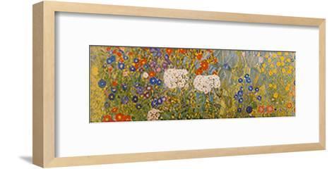Country Garden with Sunflowers Detail-Gustav Klimt-Framed Art Print