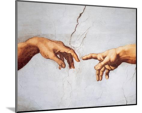 Creation of Adam-Michelangelo Buonarroti-Mounted Art Print