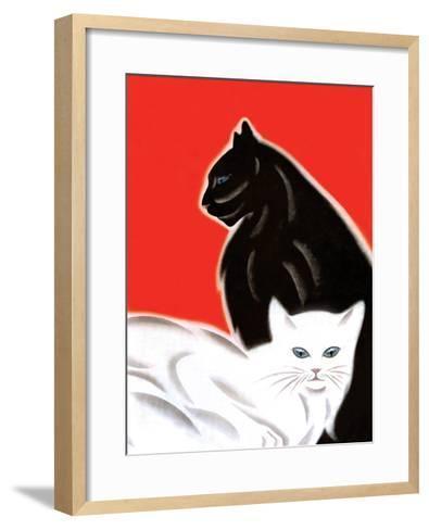 Black and White Cat-Frank Mcintosh-Framed Art Print