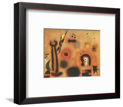 Dragon with Red Wings-Joan Mir?-Framed Art Print