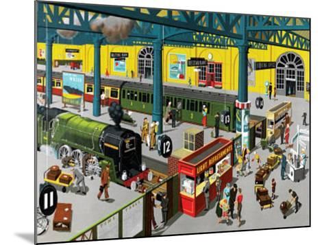 Train Station--Mounted Art Print