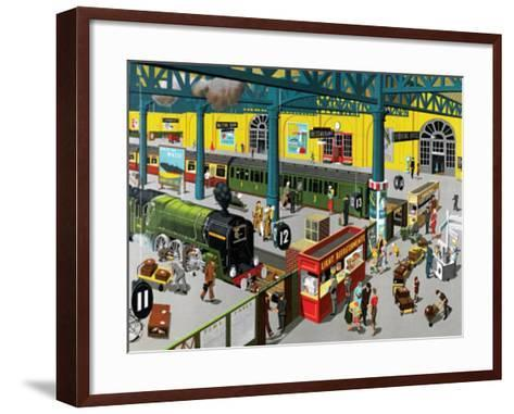 Train Station--Framed Art Print