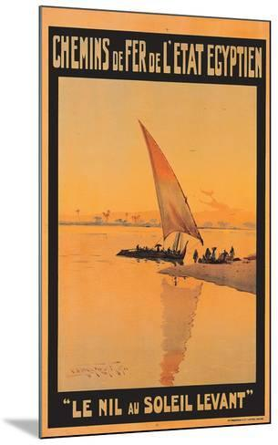 Le Nil Au Soleil Levant-M^ Tamplough-Mounted Art Print
