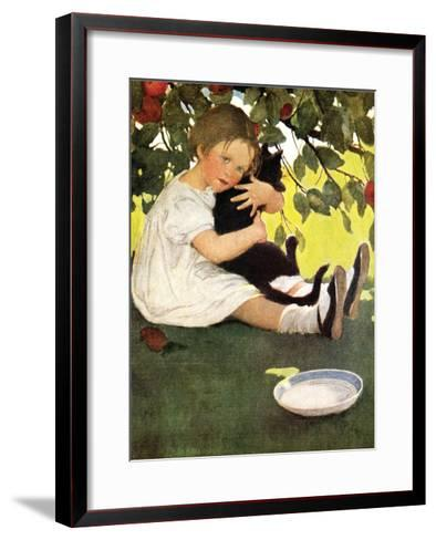 Girl and Cat-Jessie Willcox-Smith-Framed Art Print