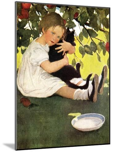 Girl and Cat-Jessie Willcox-Smith-Mounted Art Print