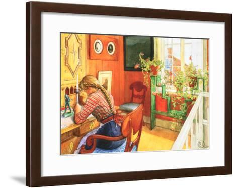 Letter Writing-Carl Larsson-Framed Art Print