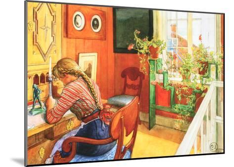 Letter Writing-Carl Larsson-Mounted Art Print