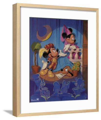 Mickey and Minnie Mouse Stage Play--Framed Art Print