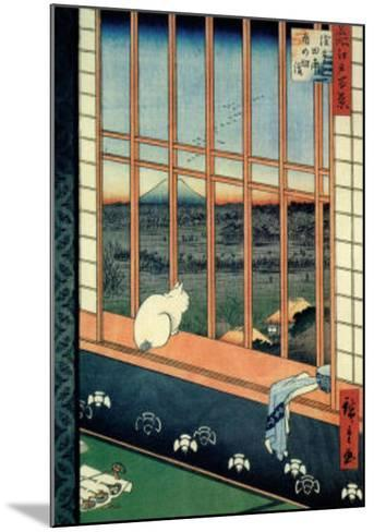 Celebration of the Cock Festival in the Ricefields near Asakusa-Ando Hiroshige-Mounted Art Print