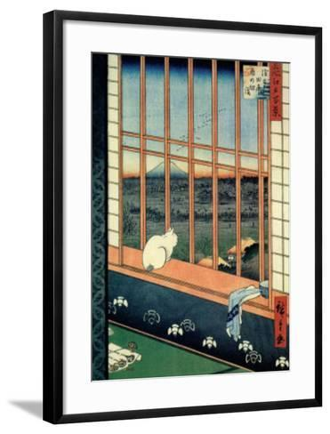 Celebration of the Cock Festival in the Ricefields near Asakusa-Ando Hiroshige-Framed Art Print