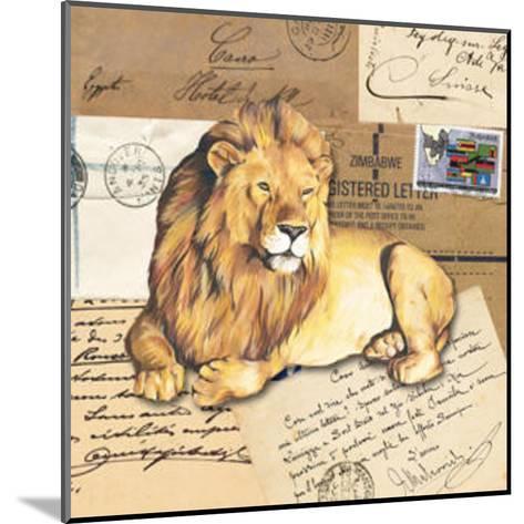 Africa Lions--Mounted Art Print