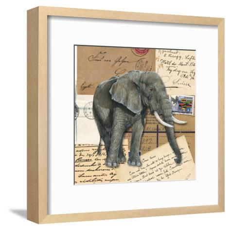 African Elephants--Framed Art Print