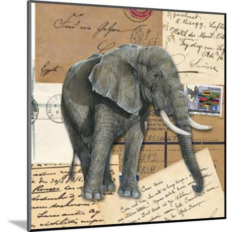 African Elephants--Mounted Art Print