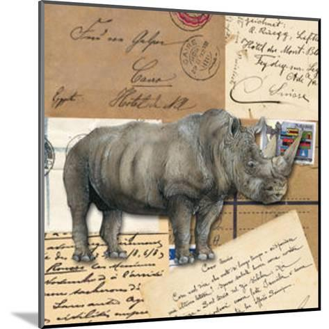 Africa Rhinoceros--Mounted Art Print