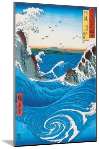 Rough Sea at Naruto in Awa Province-Ando Hiroshige-Mounted Art Print