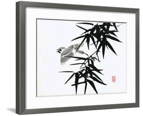 Bamboo and Bird--Framed Art Print