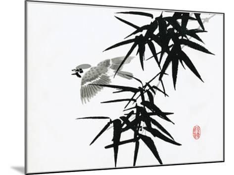 Bamboo and Bird--Mounted Art Print