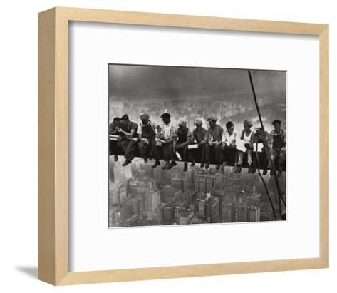 Lunchtime Atop a Skyscraper NYC-Charles C^ Ebbets-Framed Art Print