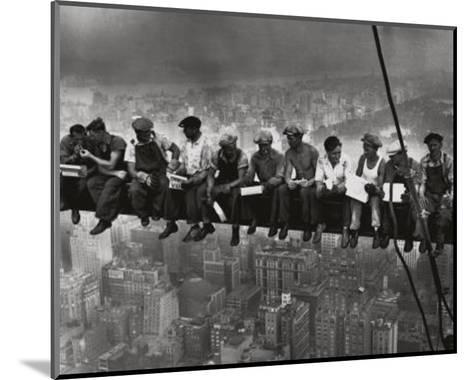 Lunchtime Atop a Skyscraper NYC-Charles C^ Ebbets-Mounted Art Print