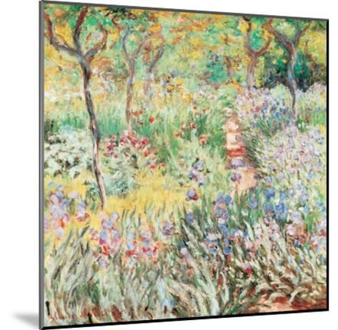 Artist's Garden at Giverny-Claude Monet-Mounted Art Print