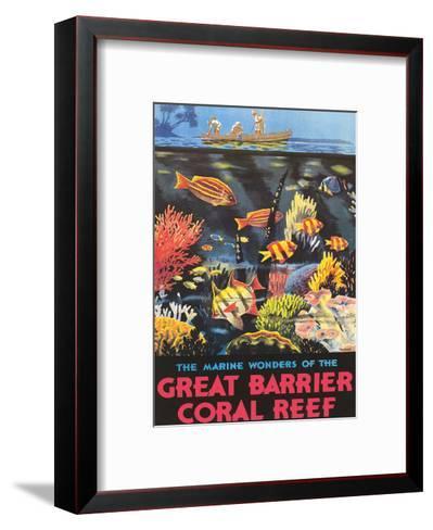 Great Barrier Coral Reef c.1933-Frederick Phillips-Framed Art Print