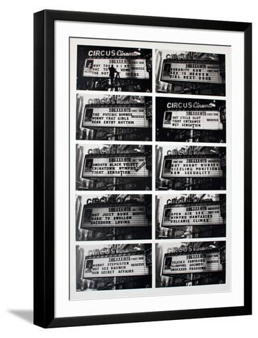 Adult XXX Movie Marquees-David Lombard-Framed Art Print