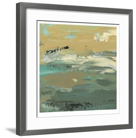 Green Water's Edge I-Alicia Ludwig-Framed Art Print