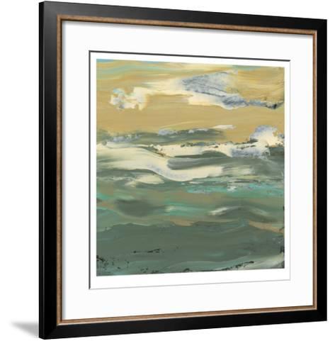 Green Water's Edge II-Alicia Ludwig-Framed Art Print