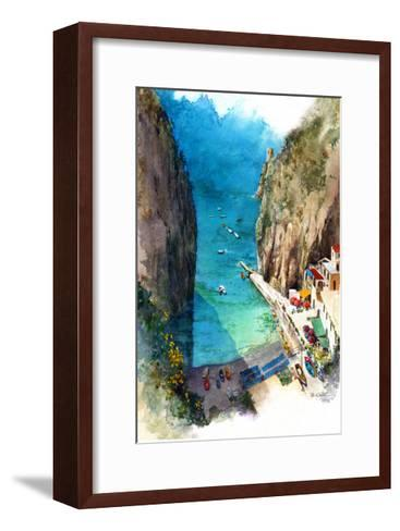Marina de Praia - Amalfi Coast-Bruce White-Framed Art Print