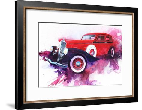 '34 Pierce Arrow-Bruce White-Framed Art Print