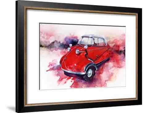 '55 Messerschmitt-Bruce White-Framed Art Print