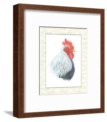 Rooster Insets II-Elissa Della-piana-Framed Art Print