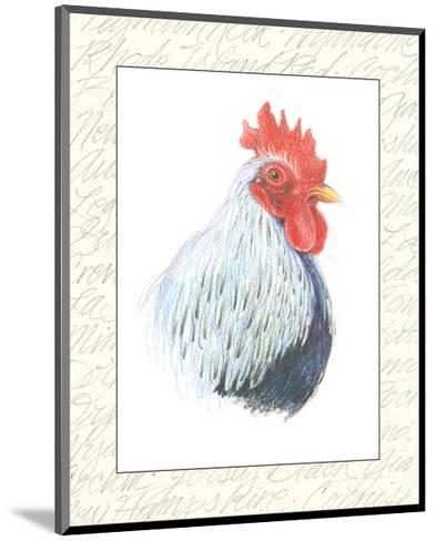 Rooster Insets II-Elissa Della-piana-Mounted Art Print