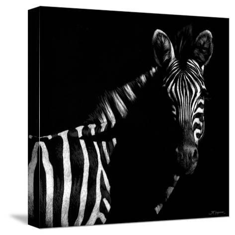 Wildlife Scratchboards IV-Julie Chapman-Stretched Canvas Print