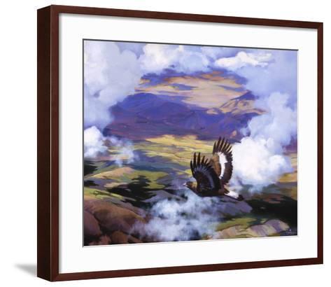 High in the Sunlit Silence-Julie Chapman-Framed Art Print