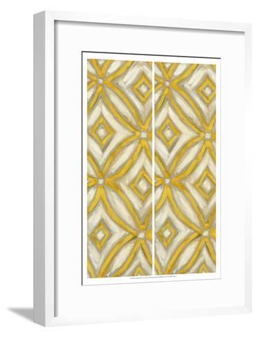 2-Up Earthen Patterns II-Karen Deans-Framed Art Print
