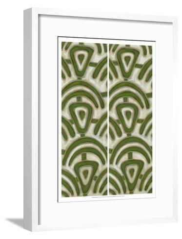 2-Up Earthen Patterns III-Karen Deans-Framed Art Print