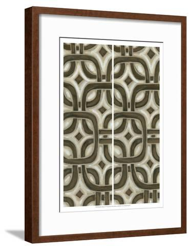 2-Up Earthen Patterns VI-Karen Deans-Framed Art Print