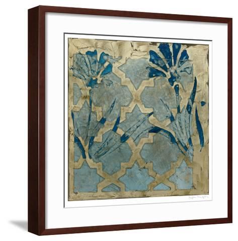 Stained Glass Indigo II-Megan Meagher-Framed Art Print