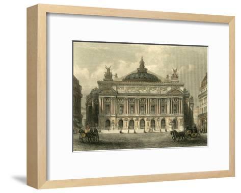 The Grand Opera House, Paris-T^ Allom-Framed Art Print