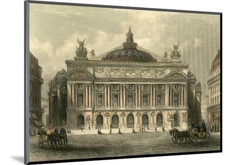 The Grand Opera House, Paris-T^ Allom-Mounted Art Print
