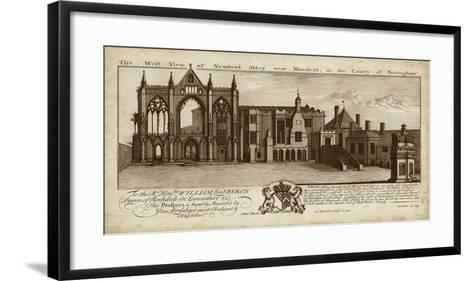 View of Newstead Abbey- Buck-Framed Art Print