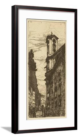 Town Hall II- Pfaff-Bader-Framed Art Print