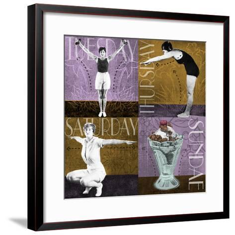 Weekly Workout II--Framed Art Print