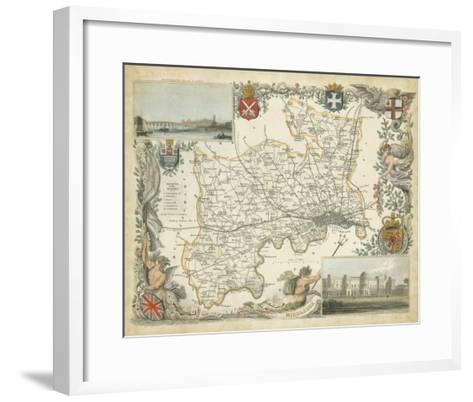 Map of Middlesex--Framed Art Print