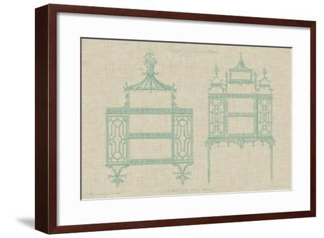 Chinese Chippendale Cabinet II--Framed Art Print