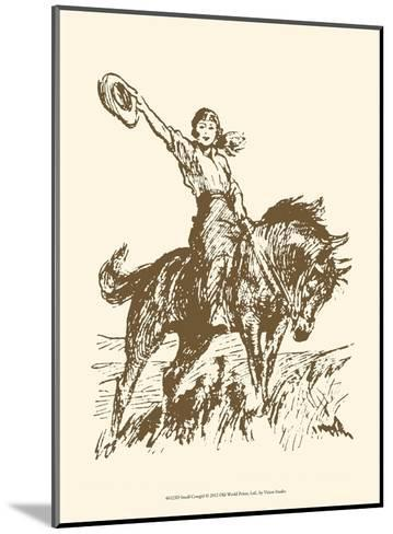 Small Cowgirl--Mounted Art Print