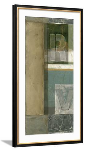Alphabet Layout II--Framed Art Print