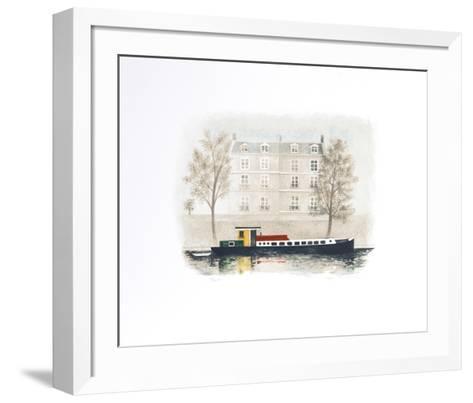 Paris Barge-Mary Faulconer-Framed Art Print